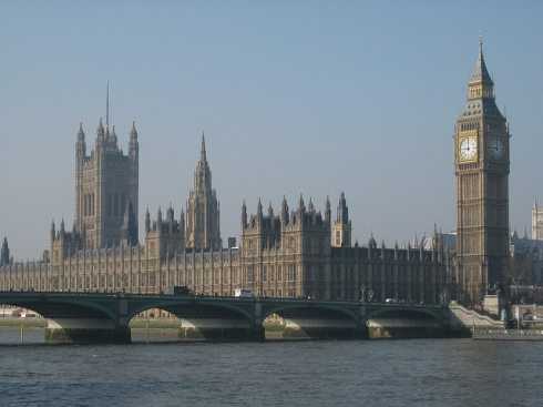 Photograph of the Palace of Westminster from the Southbank