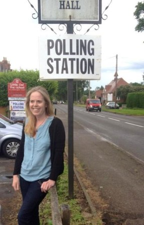 Photo of Mary at Polling Station