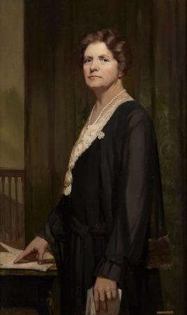 'Margaret Haig Thomas, Viscountess Rhondda' by Alice Mary Burton, 1931. Parliamentary Art Collection WOA 7177